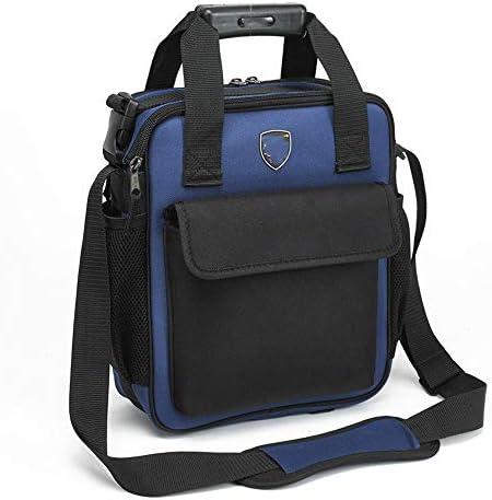 耐久性工具バッグ ポータブル木工パワーツールのショルダーバッグ多機能工具収納ハンドバッグの機能テクニシャンバッグ 工具収納&仕分け管理&運搬用 (色 : Blue, Size : S)
