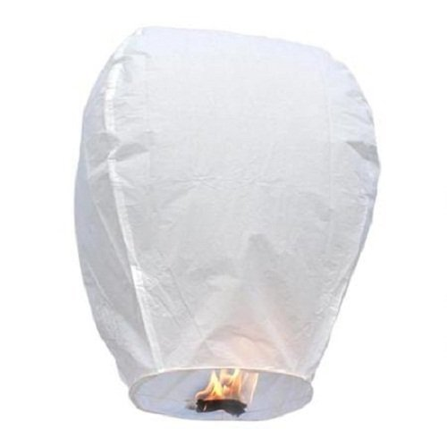 Premium Select Outlet 10 White Paper Chinese Sky Fire Lanterns Wishing Flying Candle Lamp