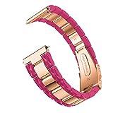 Webla Webla Acetel Luxury Fibre Coloured Steel Replacement Watch Strap for Samsung Galaxy Watch Active, Pink