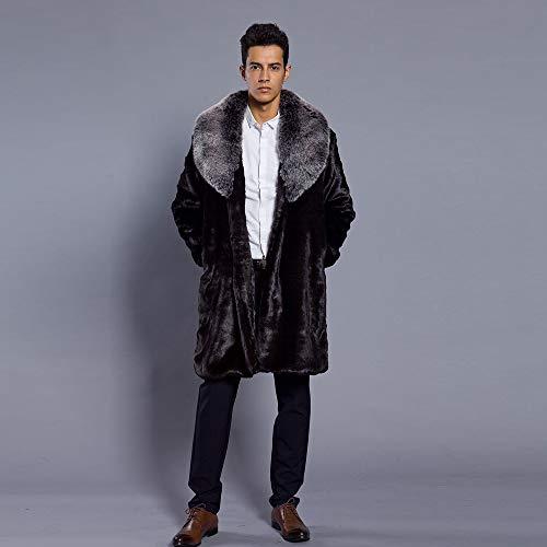 Casual Pardessus Manteau Gris Hiver Fourrure Parka Longue Décontracté Fausse Foncé Mode overdose Soldes Coat Homme Outwear PHSwqUT