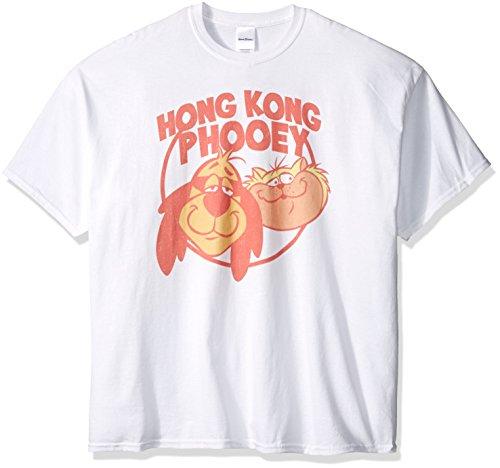 Hanna Barbera Mens Big And Tall Hong Kong Phooey Faces T Shirt  White  2Xl