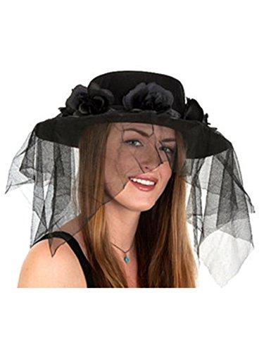 [Black Spanish Hat With Veil] (Ethnic Hats)