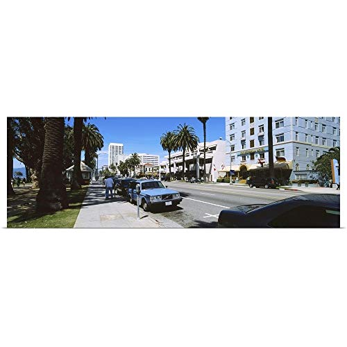 GREATBIGCANVAS Poster Print Entitled Cars Parked on The Roadside, Santa Monica, California by ()