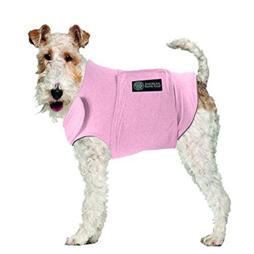 American Kennel Club Anti Anxiety and Stress Relief Calming Coat for Dogs Pink