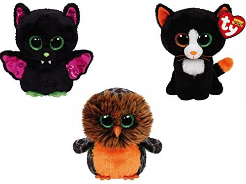 ty Beanie Boos 2015 Halloween set - Igor, Frights, Midnight