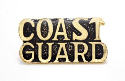 Coast Guard Gold Letters Military Patriotic Lapel Hat Pin PPM587 ()