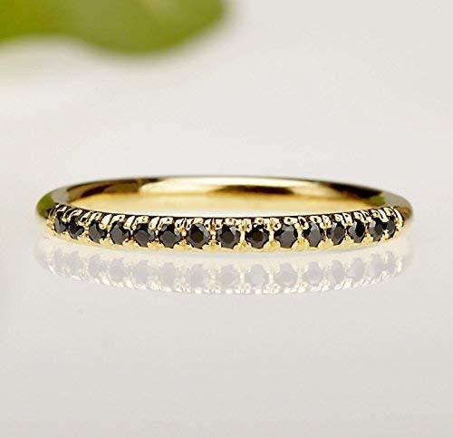 4409773c86254 Amazon.com: Dainty Multistone Black Diamonds Ring, Eternity band ...