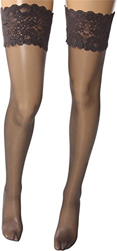 Wolford Satin Touch 20 Denier Evening Thigh Highs, Medium, Steel -