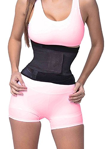 SAYFUT Shaper, Thermal Slimming Abs Belt - Best Fat Burner, Waist Trimmer and Lower Back Support - Dual Compression Wrap for Weight Loss Like Sweat Sauna for Men & Women