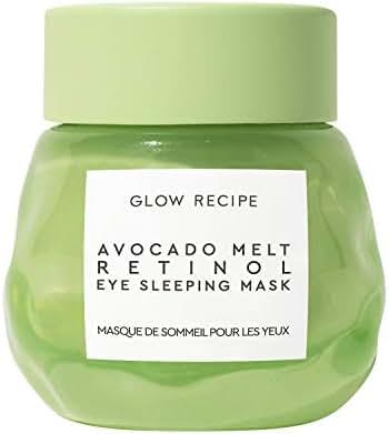Glow Recipe Avocado Melt Retinol Eye Sleeping Mask - Overnight Brightening + De-Puffing Under Eye Cream with Retinol, Avocado Oil + Caffeine, Paraben-Free (15ml / 0.5 fl oz)
