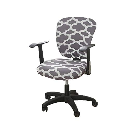 wonderfulwu Office Computer Chair Cover, Split Stretch Spandex Chair Cover Rotate Chair Protective Covers, Cloud