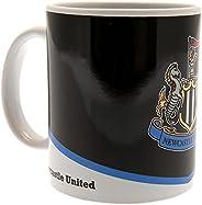 Newcastle United FC Crest Mug (One Size) (Black/White)