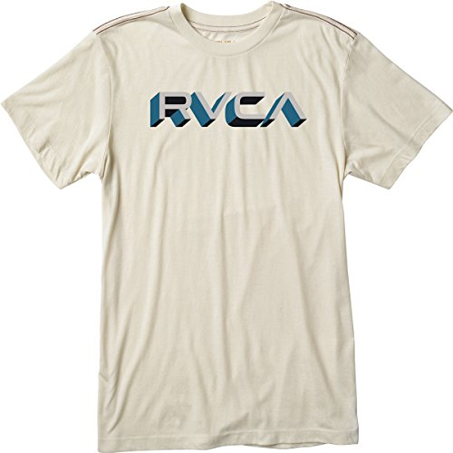 RVCA Men's Third Dimension T-Shirt, Almond Tea, Small