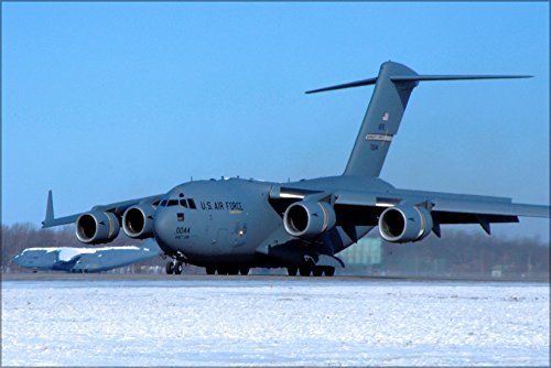 24x36 Poster . C-17 Globemaster Iii 445Th Airlift Wing