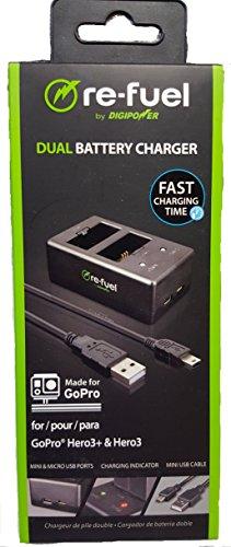 Dual Cargador de batería para GoPro Hero3+ y hero3–GoPro Hero 3+ cargador de batería