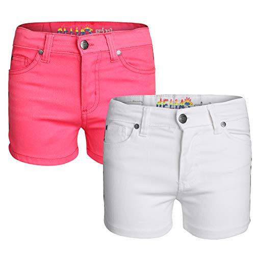 dELiA*s Girl\'s Denim Twill Shorts (2 Pack) (Love Taping, 7)'