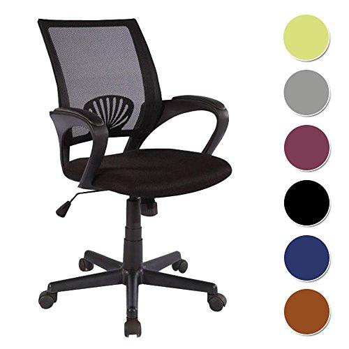 SixBros. Bürostuhl Drehstuhl Schreibtischstuhl Schwarz - HLC-0551/828