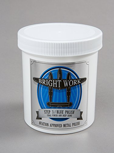 BrightWork Polish Step 3 - Blue Polish - 16 Ounce - Aviation Approved Metal Polish