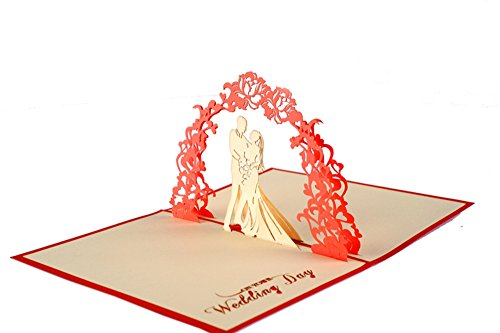 IShareCards Papercraft Handmade 3D Pop Up Wedding Cards (Wedding Garland)