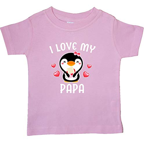 inktastic - I Love My Papa with Cute Penguin Baby T-Shirt 6 Months Pink 342ac