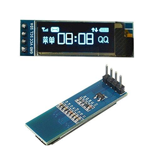 Fragil Tox Tees 0.91 Inch 128x32 IIC I2C Blue OLED LCD Display DIY OLED Module SSD1306 Driver IC DC 3.3V 5V for Arduino PIC