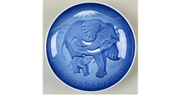 Elephant /& Calf 1986 Bing /& Grondahl Mothers Day Plate