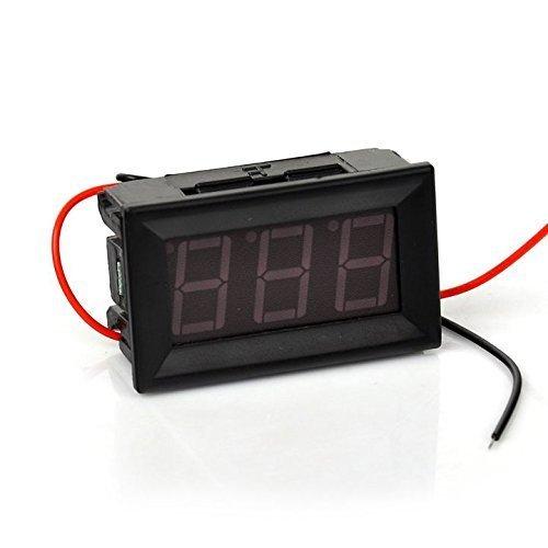 Red Panel LED Meter Digital Mini Voltmeter Two-Wire to DC 5V 120V