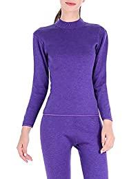 YVWTUC Women's Velvet Thermal Underwear Sets Thickening Middle-Aged Suit