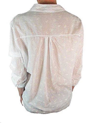 Weiß Camisas Cuello Collins Mujer Para Mao Blusa Tim qfBxw8