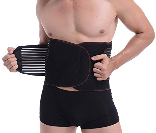 (Beyoung Back Brace, Waist Trimmer, Lumar Support for Men and Women, High Elestic & Breathable Slim Belt with Dual Adjustable Straps, Detachable Thermogenic Pad (1XL (Belly 39
