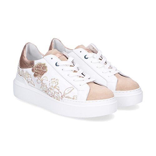 Ed Parrish Damen Ckldgl03 Weiss Leder Sneakers