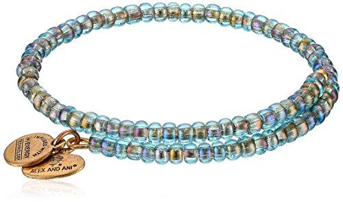Alex and Ani Womens Color Palette Wrap, Seafoam Bangle Bracelet, Rafaelian Gold, - Kaleidoscope Amazon Glasses