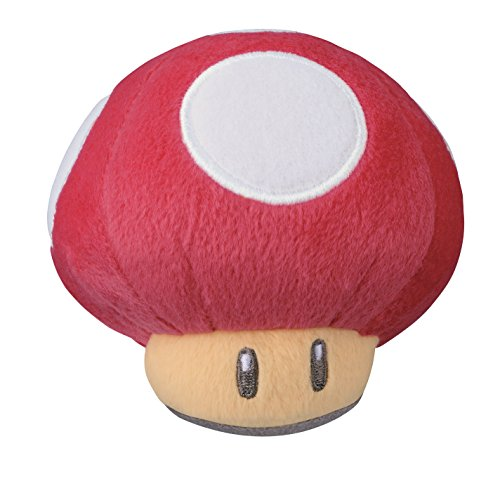 Little Buddy 1329 Super Mario 30th Anniversary Red Super Mushroom Desktop Stuffed Plush, 3