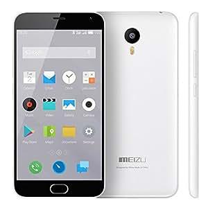 "Meizu M2 Note - Smartphone de 5.5"" (4G, WiFi, MTK6753 64Bit Octa Core 1.3 GHz, 2 GB de RAM, 16 GB de memoria interna, cámara frontal de 5 Mp, trasera de 13 Mp, Android 5.0 Flyme 4), blanco"