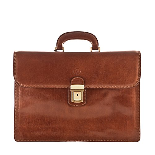Maxwell Scott%C2%A9 Leather Briefcase Paolo3 product image