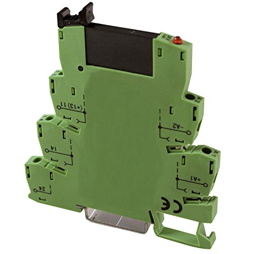 ASI ASI317004 PLC-O24VACDC Pluggable Solid State Relay with DIN Rail Mount Screw Clamp Terminal Block Base, 24 VAC Rating
