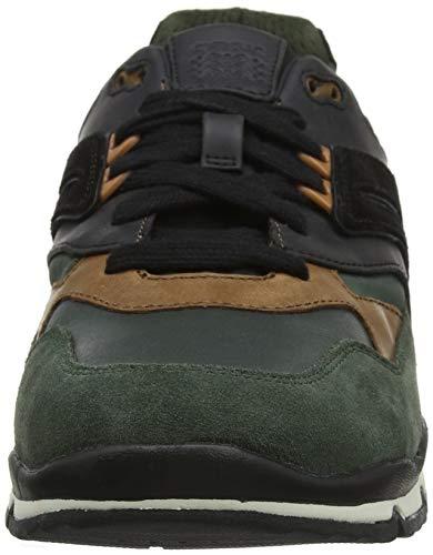 da Basse Green Uomo A C0450 Black U Scarpe Dk Geox Sandford Ginnastica Verde fUqFI