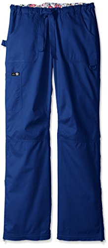 Koi Women's Tall Lindsey Ultra Comfortable Cargo Style Scrub Pants Sizes, Galaxy, Medium/Tall