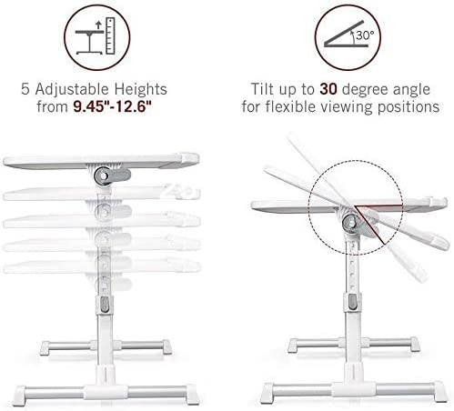 Universal Laptop Stand for Desk Bed Couch,Fit for 13-15inch,Foldable and Portable,Comfortable Ideal for Sit//Stand Lying Working