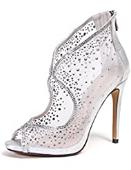 Dressy Mesh Bootie Womens Shoes by Lady Couture BONITA