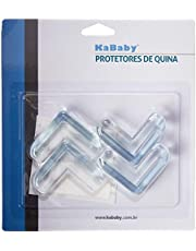 Kit 4 Protetores de Quina Angulares, KaBaby, Transparente