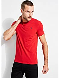 GUESS Men's Embroidered Logo Tee