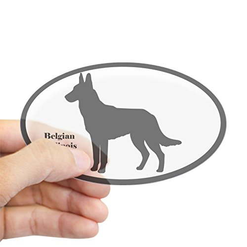 CafePress Belgian Malinois Silhouette Sticker (Euro Style) Oval Bumper Sticker, Euro Oval Car Decal