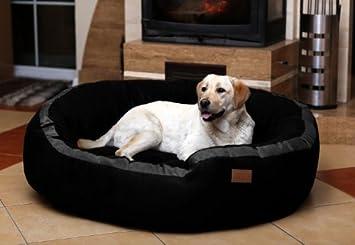 tierlando LA3-03 LANA Sofá para perro Cama para perro TERCIOPELO MEGA DICK acolchado Talla M 80cm NEGRO: Amazon.es: Productos para mascotas