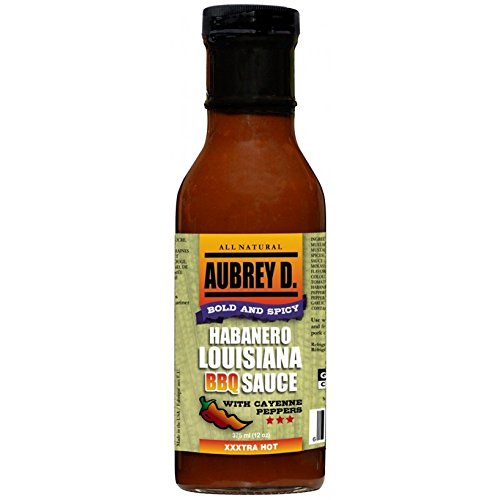 Bbq Chicken Sauce (Aubrey D. Habanero Louisiana BBQ Sauce, Gluten Free Bold and Spicy Hot for Barbecue Chicken Wings, Cajun Crawfish (1 Pack))