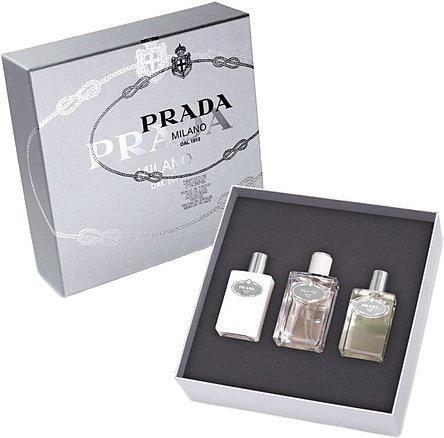 Milano Prada Infusion (Prada Prada Milano Infusion D'Homme Men Giftset (Eau De Toilette Spray, After Shave Balm, Bath and Shower Gel))