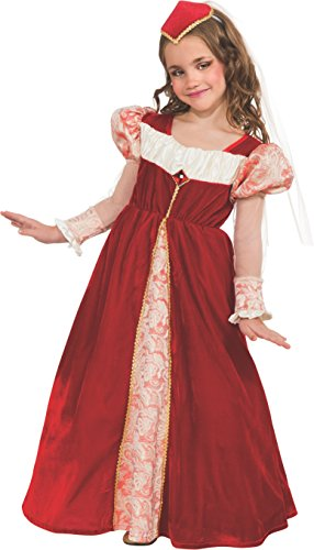 Rubie's Red Jewel Princess Dress-Up Costume, Large (Medieval Halloween Costumes)