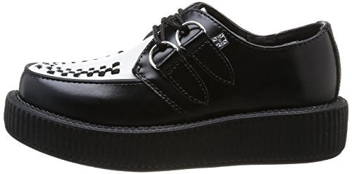 u k Creeperss black Low Black V6807 white T Viva Unisex q6P4TTR