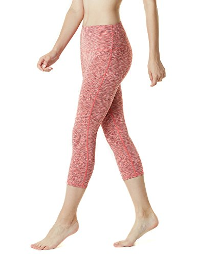 TM-FYP32-SDO_Large Tesla Women's Yoga 21″Capri High-Waist Tummy Control Pants w Pocket FYP32 …