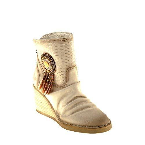 Felmini Zapatos Para Mujer - Enamorarse com Como A970 - Botas de Cuña - Cuero Genuino - Varios Colores Varios colores